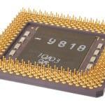 IBM Cyrix 6x86MX PR200 CPU bottom view