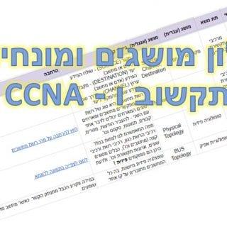 מושגים ומונחים למגמת תקשוב CCNA ורשתות מחשבים