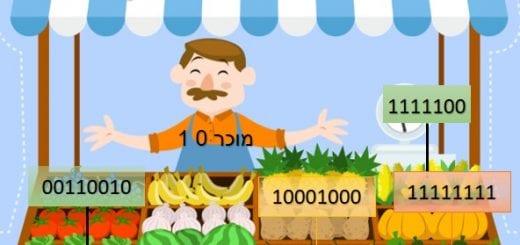 משחק לחיזוק הלימוד בהמרת מספרים בינאריים לעשרוניים